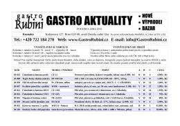 GASTRO AKTUALITY