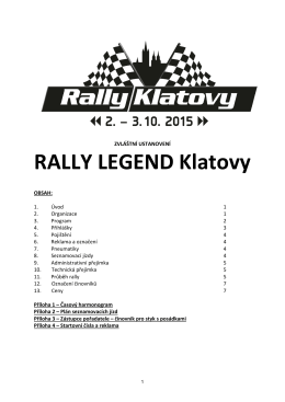 ZU Rally Klatovy Legend
