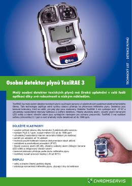 Technický list - ToxiRAE 3