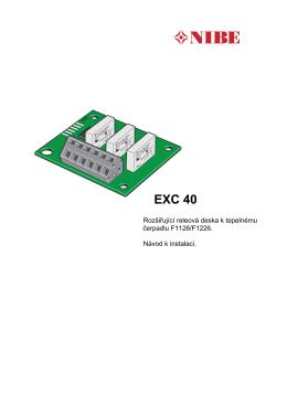 EXC 40 - Tepelná čerpadla NIBE