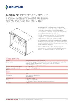 Programovat elný termostat pro snímání teploty povrchu s