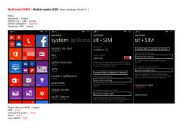 Nastavení MMS - Nokia Lumia 830 (verze Windows Phone 8.1