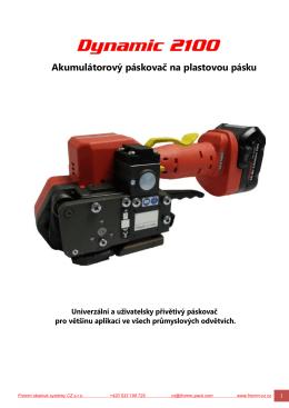 Akumulátorový páskovač na plastovou pásku