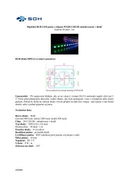 LED066 Digitální RGB LED pásek s chipem WS2811