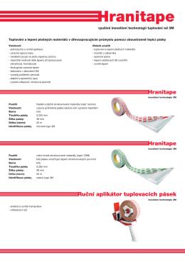 Hranitape Hranitape Ruční aplikátor tuplovacích pásek