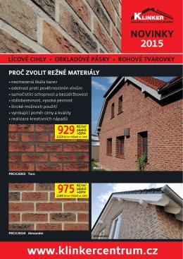 novinky 2015 - KLINKER Centrum sro