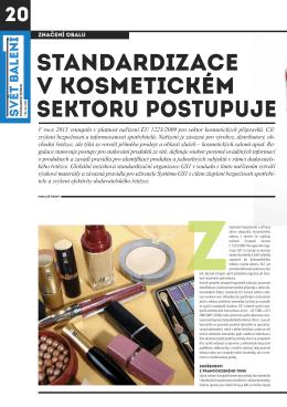 standardizace v kosmetickém sektoru postupuje