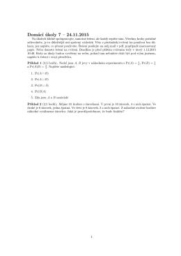 Domácí úkoly 7 – 24.11.2015