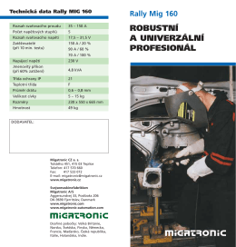Migatronic - RALLY MIG 160