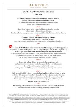 Vánočná menu