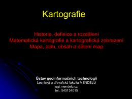 1. Kartografie