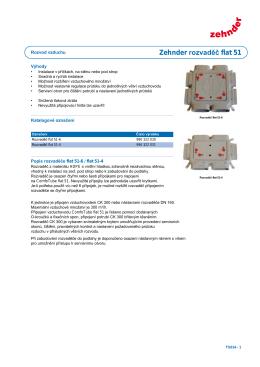 Technická specifikace Zehnder Rozvaděč flat 51