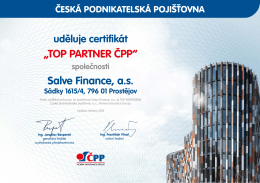 """TOP PARTNER ČPP"" Salve Finance, a.s."