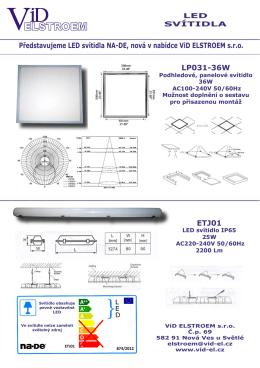 LED svítidla NA-DE - ViD ELSTROEM s.r.o.