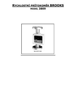Rychlostní průtokoměr BROOKS model 3809