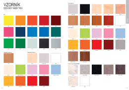 Vzorkovník - barvy a dekory nábytku (formát PDF)
