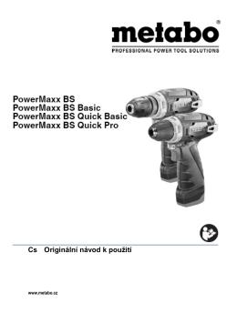Návod k obsluze Metabo PowerMaxx BS Basic - Ruční