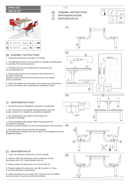 Assembly instructions - dining set