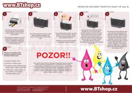 HOTOVO-Návod na doplnění tiskových kazet HP 364