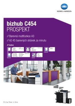 Brožura bizhub C454, PDF