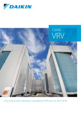 Ceník VRV systémů Daikin 2015