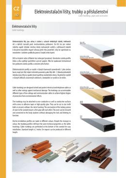 Elektroinstalační lišty, trubky a příslušenství