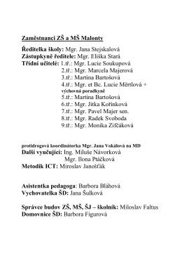 Seznam zaměstnanců