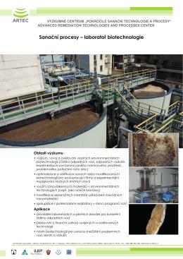 Sanační procesy – laboratoř biotechnologie