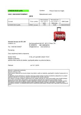 MO ceník pro London Bus kufřík