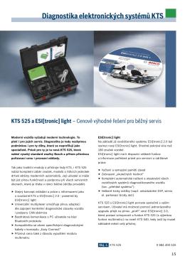 Diagnostika elektronických systémů KTS