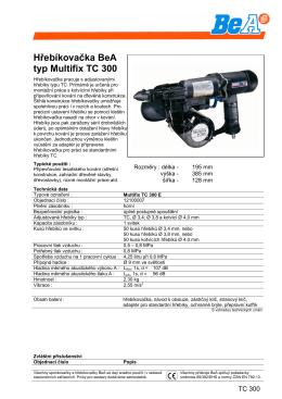 Hřebíkovačka BeA typ Multifix TC 300