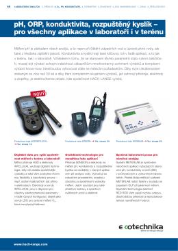 pH, ORP, konduktivita, rozpuštěný kyslík – pro