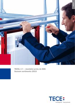 TECEprofil – montážní prvky do SDK Seznam sortimentu 2015