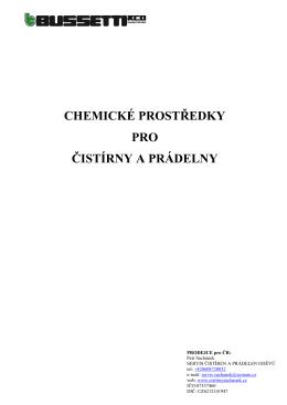 katalog chemických prostředků BUSSETTI