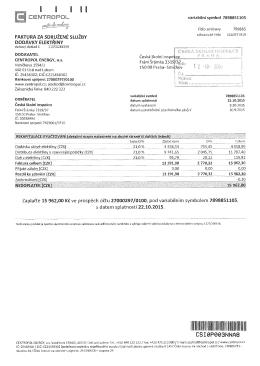 Zaplaťte 15 962, Kč ve prospěch účtu 27000297/0100, pod