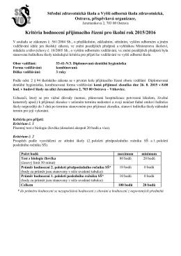 Střední zdravotnická škola a Vyšší zdravotnická škola Ostrava