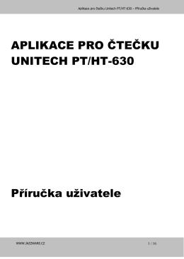 APLIKACE PRO ČTEČKU UNITECH PT/HT-630