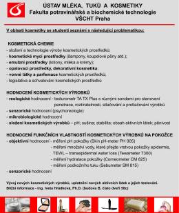 Informace o výuce kosmetiky