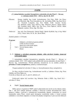 Zápis (PDF 19kB)