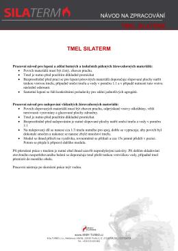 Návod na zpracování - TMEL SILATERM