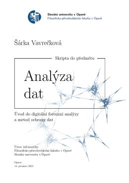 PDF - RNDr. Šárka Vavrečková, Ph.D.