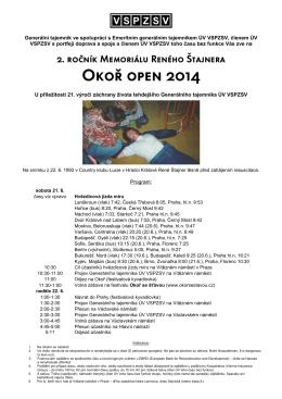 Okoř open 2014