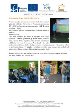 GolfBrothers - Obchodní akademie Český Těšín