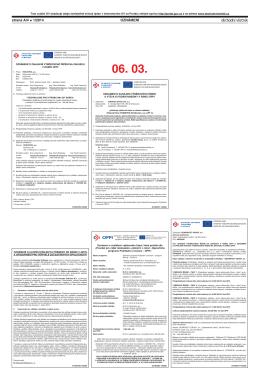 LISTIN NOSTÍ Oznámení o vyhlášení výběrového řízení, které