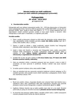 propozice - DDM Praha 9