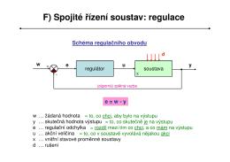 F) Spojité řízení soustav: regulace