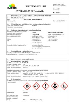 Cyperkill 25 EC – PDF, 264 kB