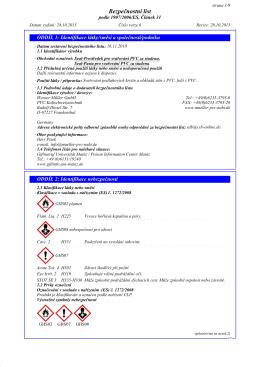 bezpecnostni list Seal prostredek pro svarovani PVC za studena 1
