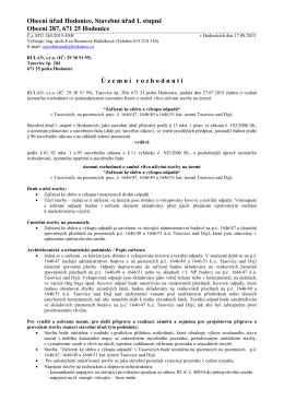 Obecní úřad Hodonice, Stavební úřad I. stupně Obecní 287, 671 25