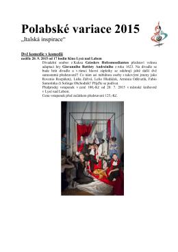 Polabské variace 2015 - Informační centrum Lysá nad Labem